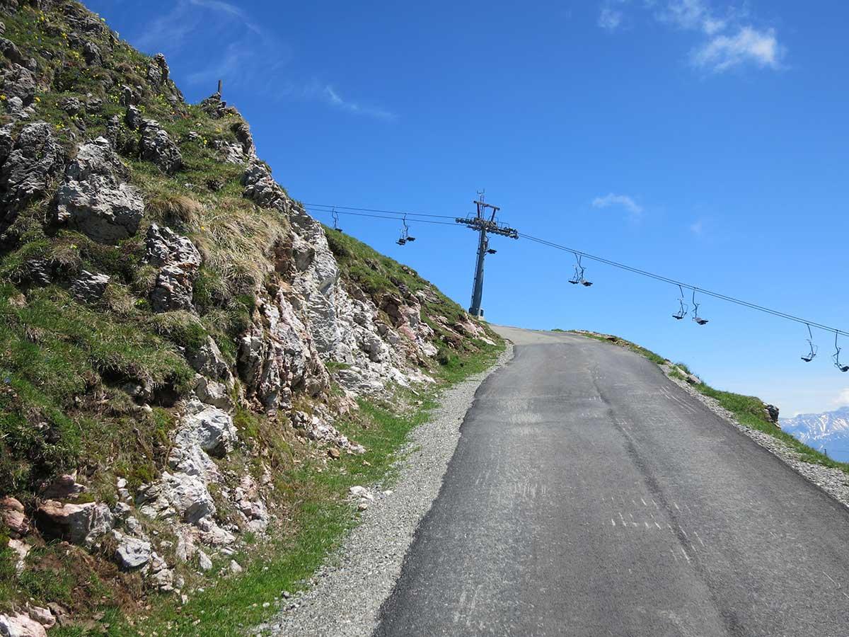 Na Kitzbuhel Horn na cesťáku