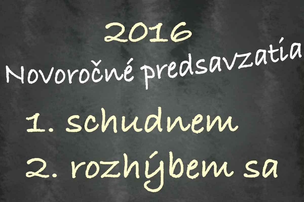 Veľa úspešných novoročných predsavzatí