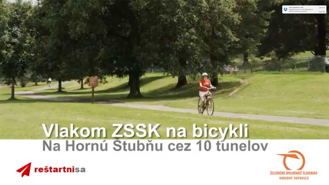ZSSK: Cez 10 tunelov vlakom a bicyklom na Hornú Štubňu