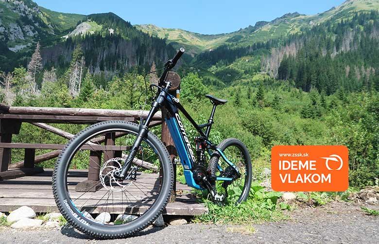 Tichá a Kôprova dolina na bicykloch vlakom ZSSK