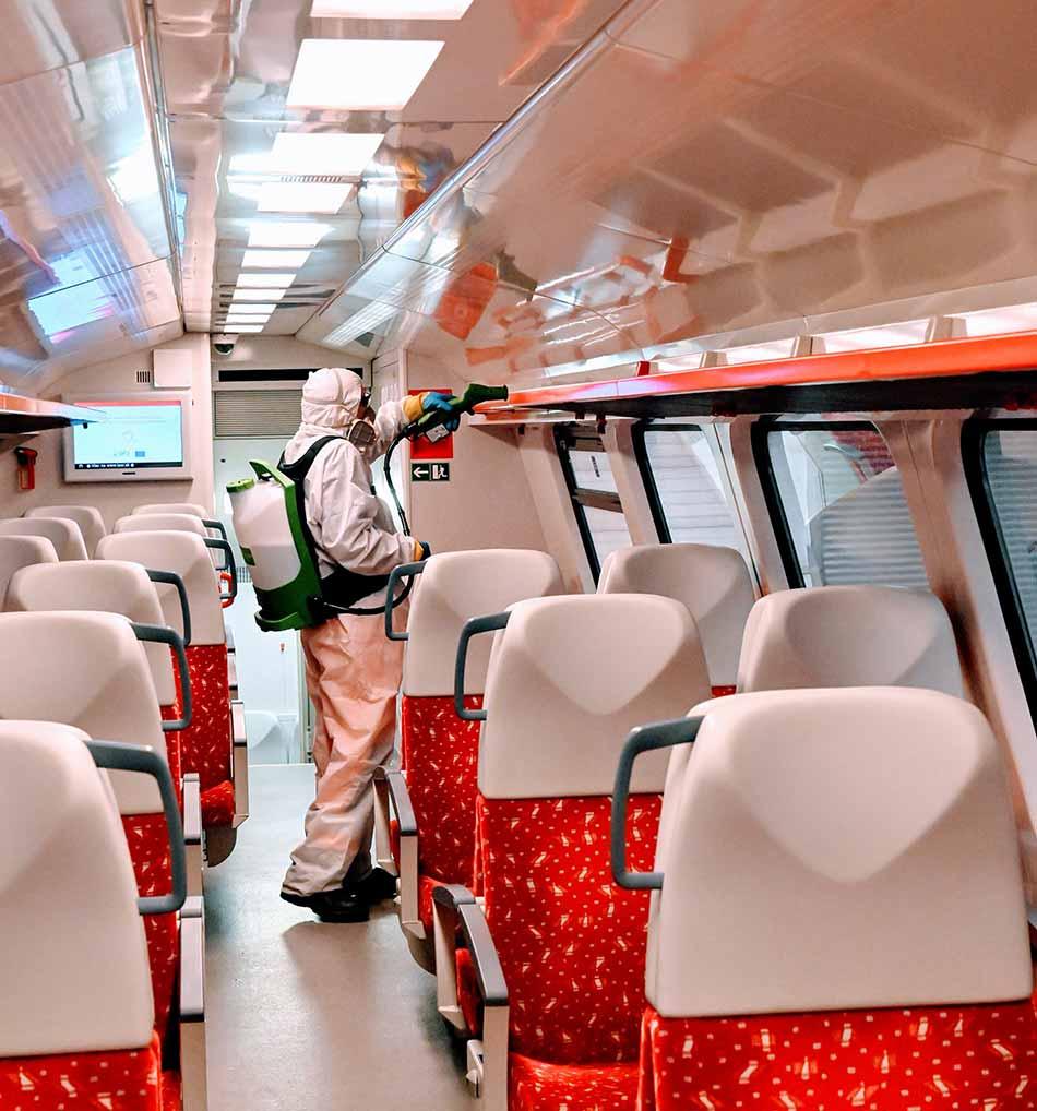 Dezinfekcia vlakov ZSSK