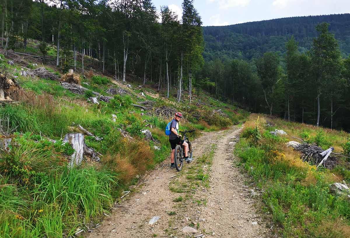 MTB: Hľadanie ideálnej cyklotrasy na Skalisko, Volovec