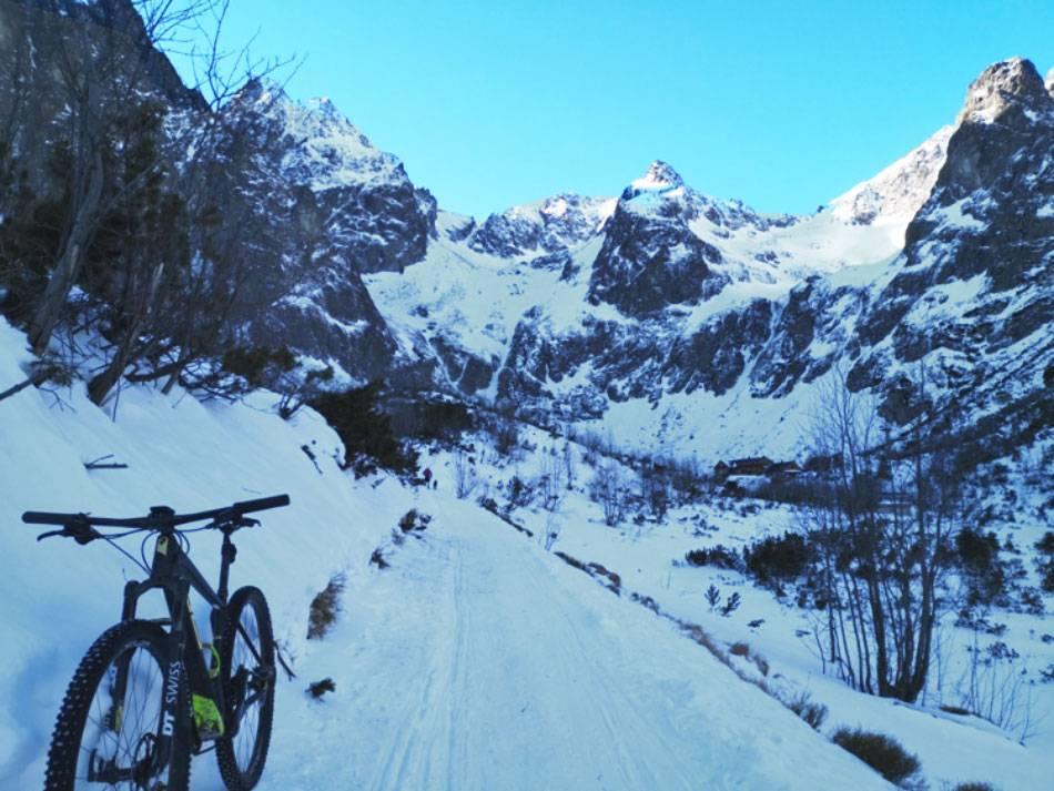 Zimná cyklistka