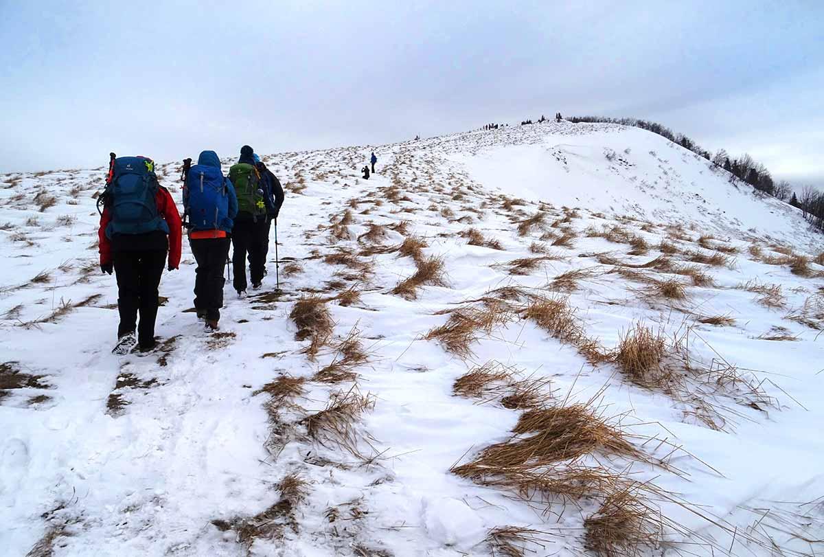 Zimná túra cez Moštenické travertíny na Kozí chrbát