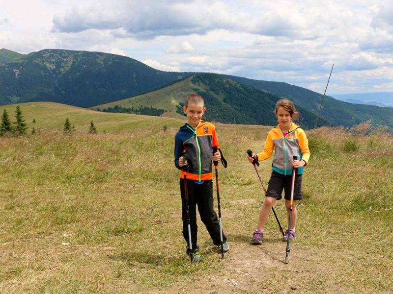 Na Kečku a Kozí Chrbát. Staré hory s rodinou a deťmi.
