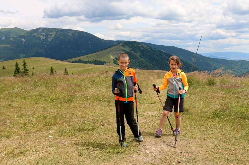 Kečka Donovaly turistika 7 kopcov 3 jazerá