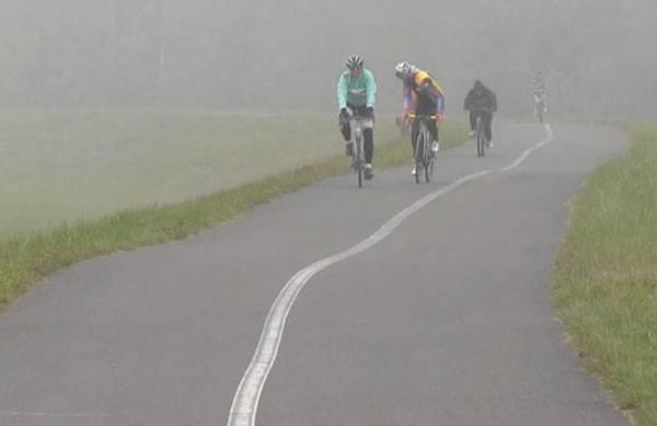 Novembrový cyklovýjazd na Bratislavskej hrádzi